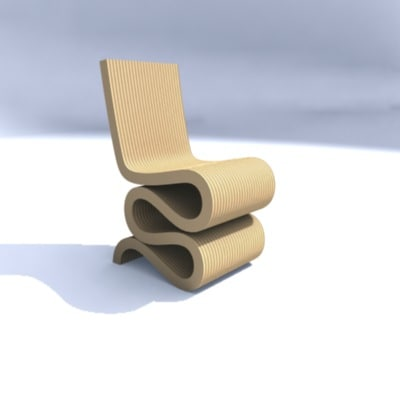 3d max gehry wiggle chair