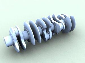 inline crank 3d dwg
