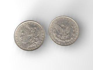 3d model morgan silver dollar
