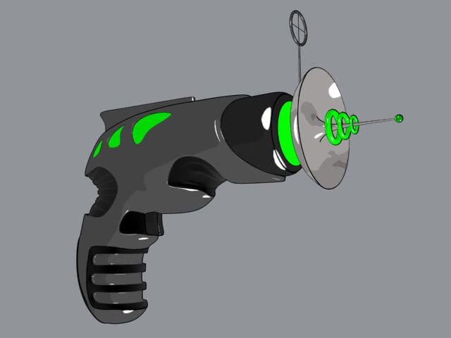 retro raygun 3d max