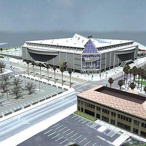 3ds max hp pavilion arena
