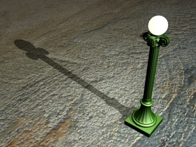 3ds max cast iron lamp pole