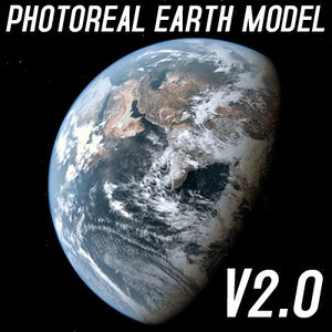 photoreal earth shaders dynamic 3d model
