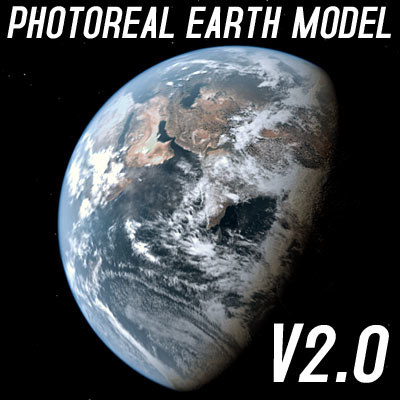 photoreal earth shaders dynamic 3d model