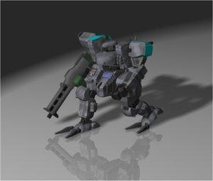 free 3ds model zenith mecha