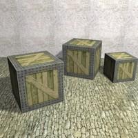 Wood_Iron Box K011