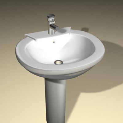 modern wash basin sink 3d model