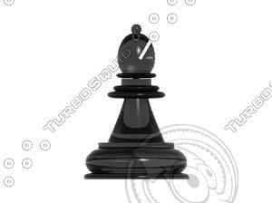 chess bishop 3d model