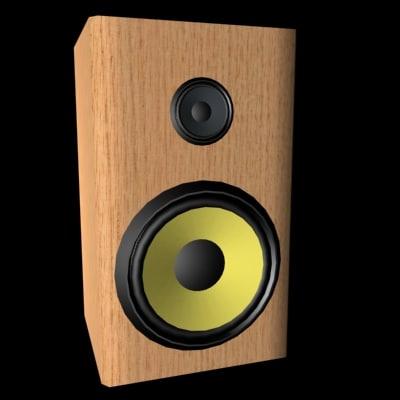 3d loudspeaker stereo model