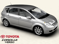 toyota corolla verso interior car 3d 3ds