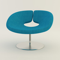 artifort apollo chair 3d model