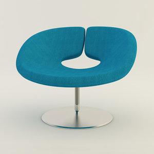 artifort apollo chair 3d model