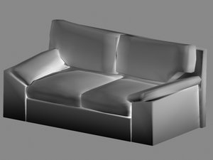 3d obj couch