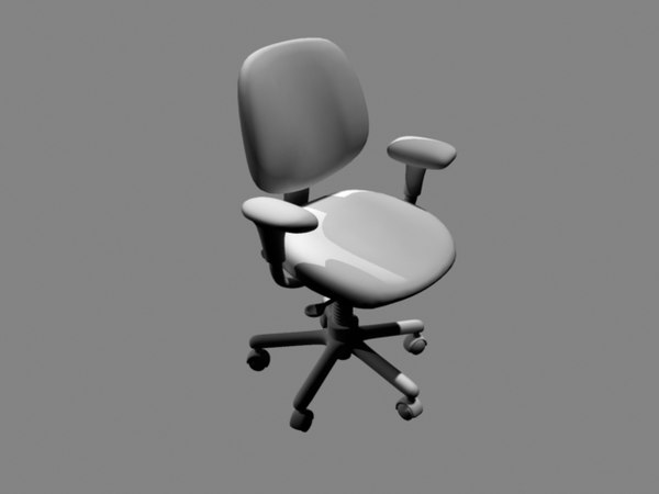 adjustable computer chair obj