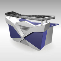 reception furniture desk 3d max