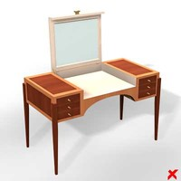 table dressing 3d max