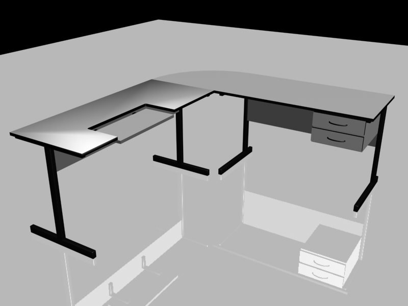 3d max computer table
