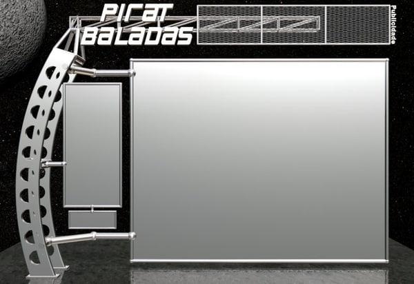 futuristic web site 3d model