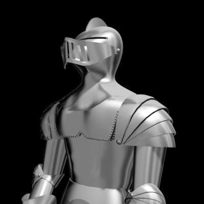 knight armor medieval 3d model