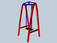 free playground swings 3d model