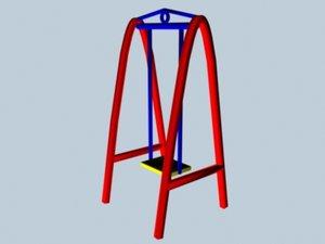 free playground swings 3d model