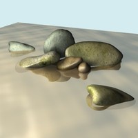 river rocks 3d model