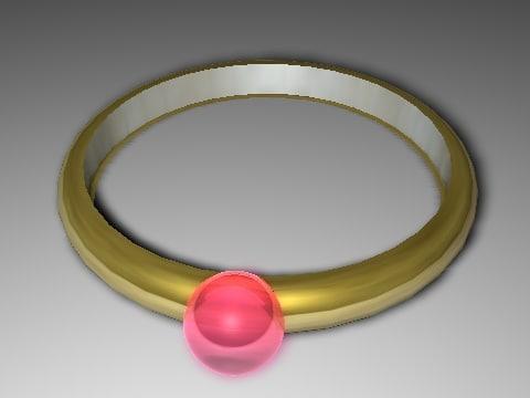 gold ring c4d