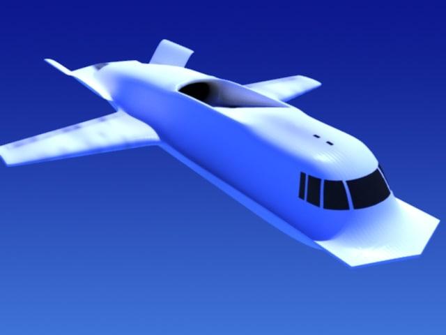 tacit blue stealth aircraft 3d model