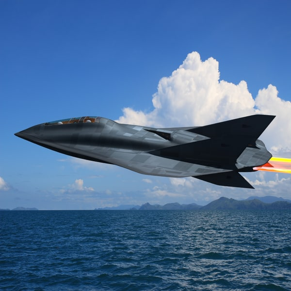 aurora secret reconnaissance aircraft 3d model