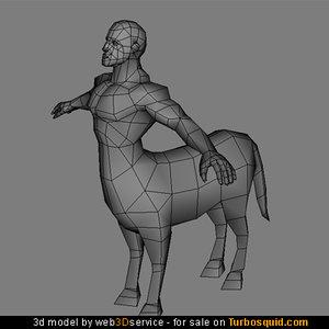 polygonal centaur 3d model