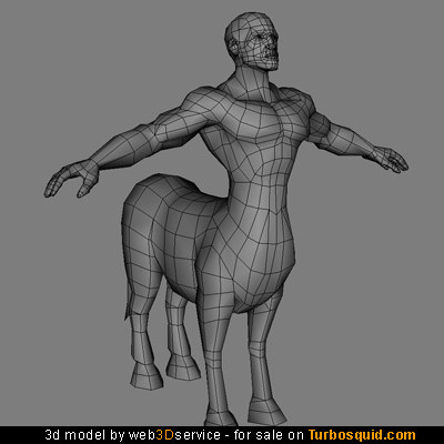 heroic centaur 3726 triangles 3d model
