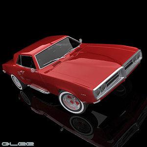 firebird 68 3d model