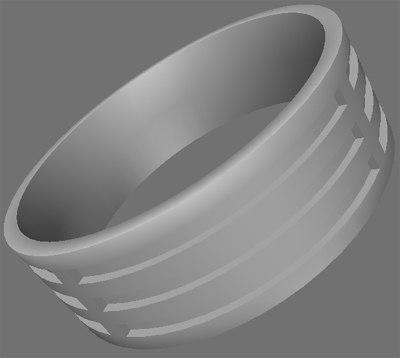basic ring 3d obj