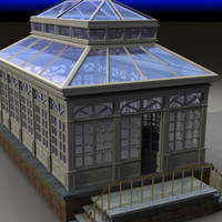 3d glass greenhouse