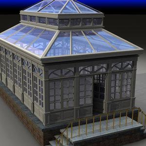 3d glass greenhouse