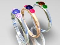 3d model rings gems