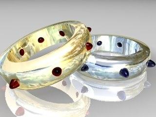 rings gems 3d model
