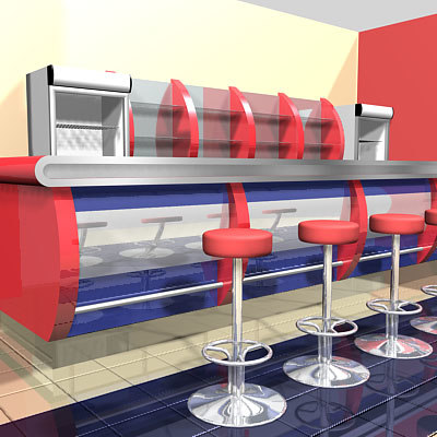3d bar cafe restaurant
