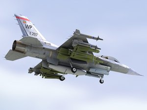 f16c falcon usaf 3d model