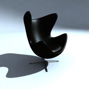 3d model of easy chair