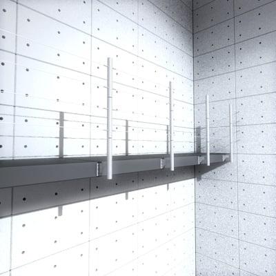modern railing 3d model