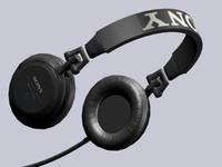 3d model headphones sony mdr-v500