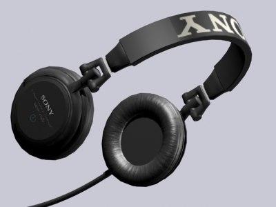 3d model headphones sony mdr-v500