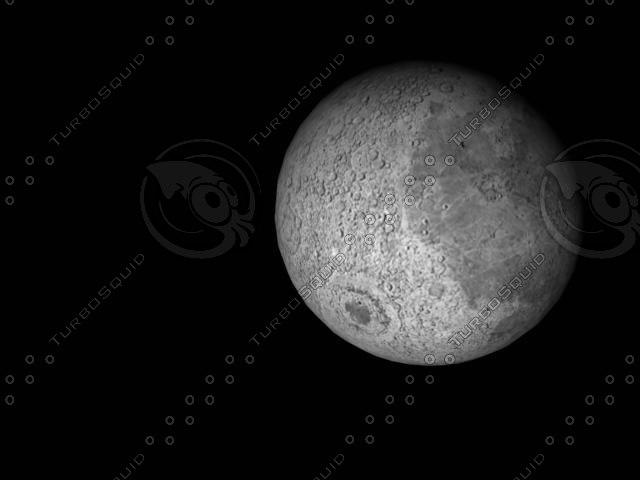 3d model planets mars moon earth