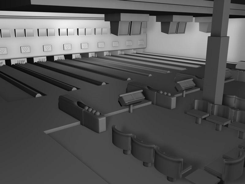 bowlingcenter bowling 3d model
