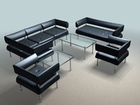 3d business class furniture
