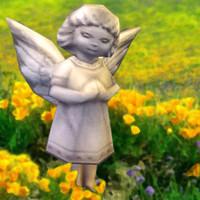 cherub statue 3d model