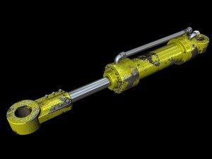 3ds max hydraulic cylinder