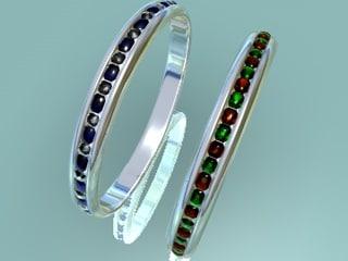 gem rings 3d model