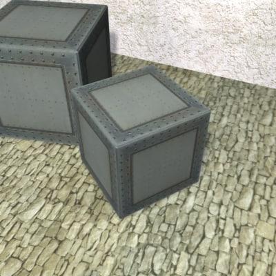 3ds max metal box
